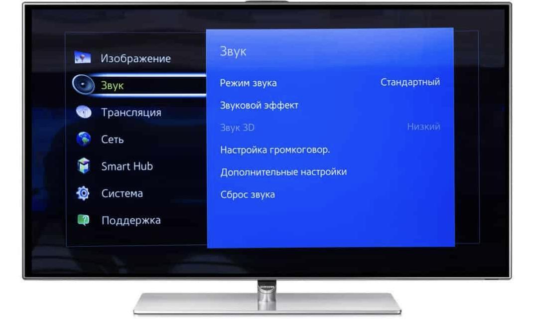 Настройка звука на ТВ